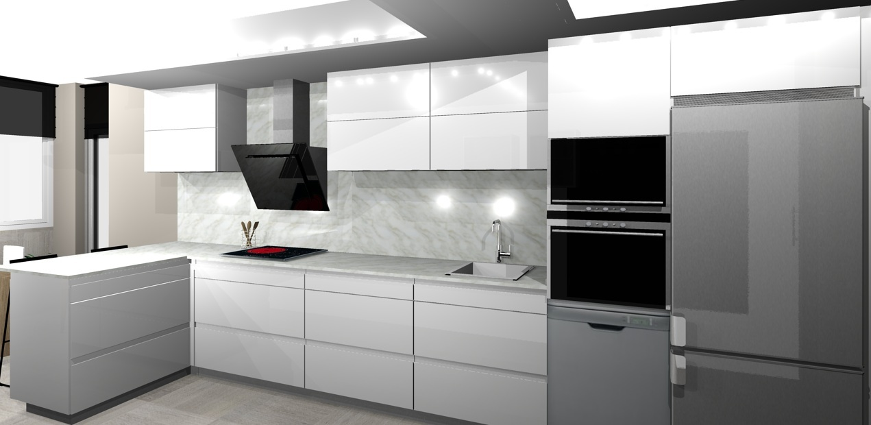 Cocinas En Guipuzcoa Dise O De Cocinas De Fabricaci N Propia  ~ Puerta Corredera Cristal Cocina